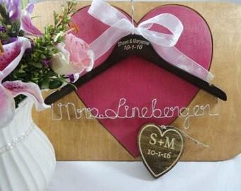 Keepsake Gift - Bridal Gift - Closet Hanger - Coat Hangers - Personalised Hanger - Wood Hangers - Wedding Hangers - Personalised Gifts