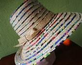 Cheery Kate Spade Straw Sun Summer Print Beach Hat New York Hats Off