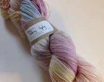 50/50 merino silk hand dyed 4ply yarn Candy Crush 380yds approx