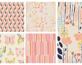 5 FAT QUARTERS - Various Fabric by Leah Duncan and Bonnie Christine for Art Gallery Fabrics