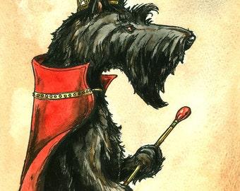 Scottish Terrier Queen (an original hand painted queen)