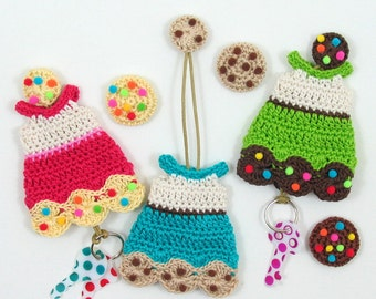 PDF Crochet Pattern Cookie Dress Key Cozy - CP-16-3347