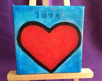 Love Painting 5x5 Canvas