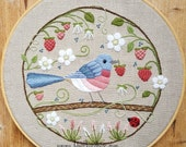 The Strawberry Thief Crewel Embroidery Pattern and Kit