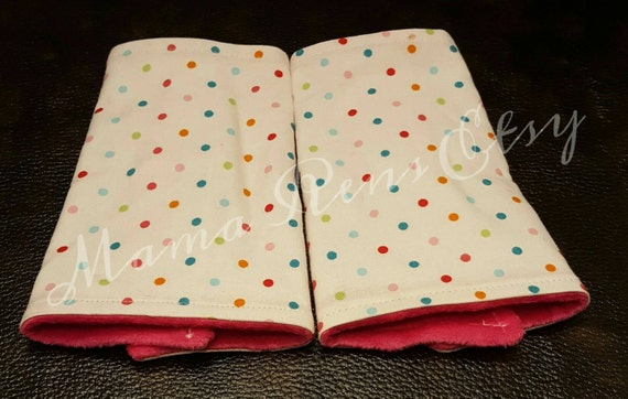 Rainbow dots flared suck pads for Lillibaby Tula Ergo Beco SSC