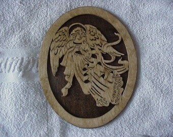 New...Angel Scroll Saw Art