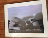 Female Nude Hand Tinted Photo Framed Hand Colored