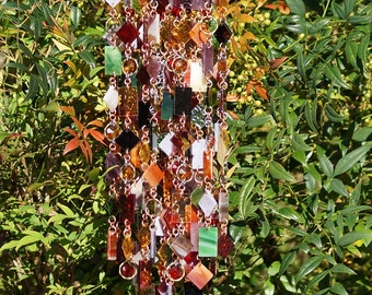Couleurs d'automne - Unique Wind Chimes - Suncatcher - OOAK Gift For Her, Anniversary, Birthday, Wedding, Housewarming Gift