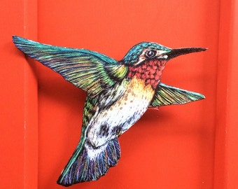 SALE Hummingbird brooch pin