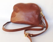AW13 Leather bag In golden whiskey brown