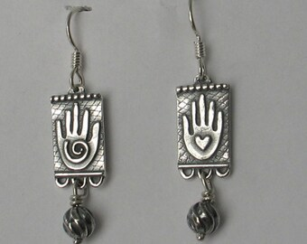 Sterling hand earrings mha2