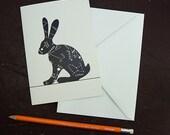 Lepus Constellation Hare Greetings Card