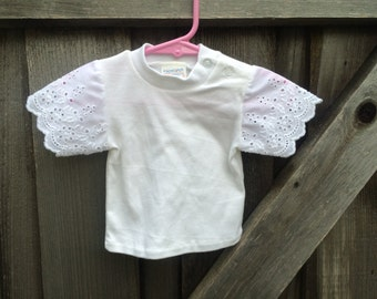Eyelet Lace T-Shirt 3/6 Months