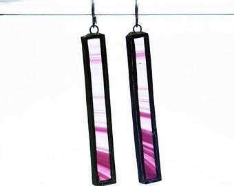 EARRINGS- Stained Glass Earrings, Purple Earrings