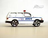 man cave art, police gift, police art, police car photo, toy police car art, boys nursery art. toy car photo, boys room decor, boys room art