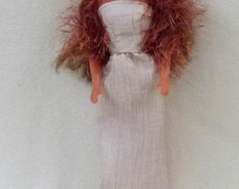"11.5"" fashion doll Handmade long dress and evening wrap"