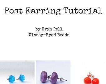 Lampworking Tutorial ~ Glass Post Earring Tutorial