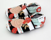 Soft Sole Baby Shoes  SWAG booties Black and white stripes floral pink  slippers boy girl infant newborn baby toddler shower gift mint gold