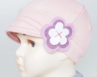 Girls Cancer Hat Children Alopecia Hat Chemo Headwear Kids Lupus Hat Leukemia Chemotherapy Beanie with Flower Hat for Kids with Hair Loss