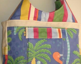 Large Carryall Tote Bag-TROPICANA