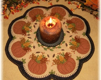 Candle Mat Kit, DIY Craft Kit, Felt Craft Kit, DIY Kit, Craft Kit, Wool Felt Kit, diy Gifts, Fall Crafts, Felt Crafts, Fall's Bounty