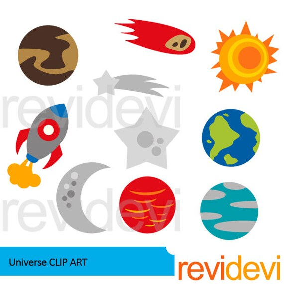 Planets and stars clipart bundle - out of this world ...