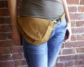 Ochre Belt Bag in Cotton Duck Cloth : Fanny Pack, Hip Bag