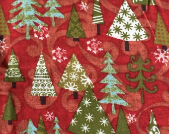 Christmas tree fabric - 30 inches x 43 inches