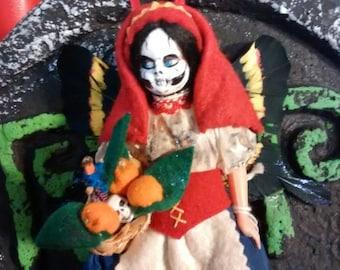 Lucia the Gothic Horror Faerie repurposed altered Art Doll
