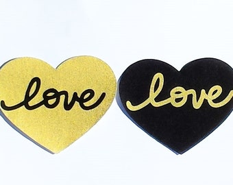 Heart And Love...Fabric Iron On Applique...Two Designs Available