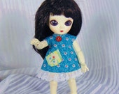 Turquoise Blue Fusion Dress for Jun Planning AI doll