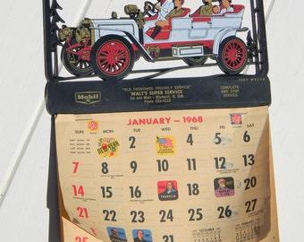 1968-1969 calendar Automotive advertising Bismarck North Dakota