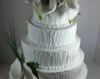 Calla Lilly Wedding Cake Fake Prop Bakery Display