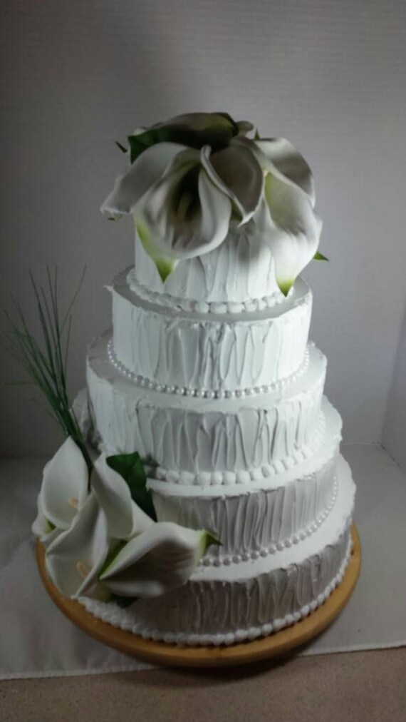 artificial wedding cakes for display calla lilly wedding cake prop bakery display 10849