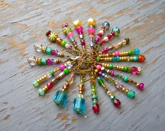 Boho Blooms colorful fun long earrings, pick a pair