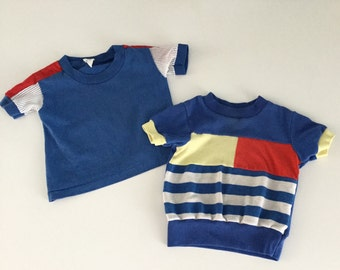 2 Vintage 80s Boys Shirts 12 months