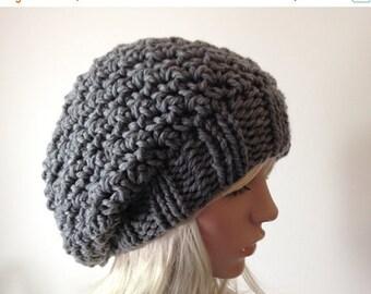 JULY SALE Slouchy Knit  Hat, Crochet Hat, Women's Chunky Hat, THE Wolcott