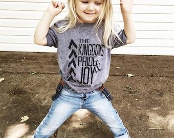 The Kingdoms Pride & Joy - kids t-shirt (next level) grey