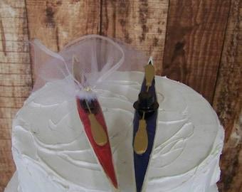 Kayak Wedding Cake Topper-Boating-Nature-Fishing-Water Rafting