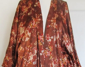 Vintage 1960's Silk Kimono Saks Fifth Avenue