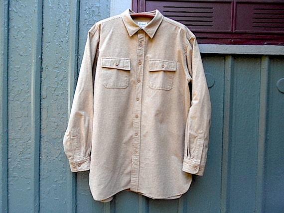 Items similar to SALE LL BEAN Chamois shirt, men xl tall ...
