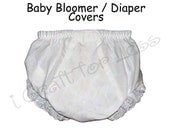 Embroidery Blank Baby Bloomers / Diaper Cover Ups - Sizes 1, 2, 3, 4, 5 and 6 - SEE COUPON