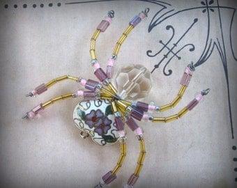 Cloisonne Spider  Ornament Suncatcher