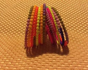 Neon Rainbow Bracelets