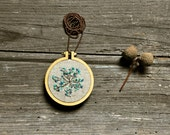 wearable art embroidery necklace - Little Root