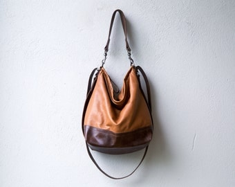 new color - HOBO PACK in soft lightweight leather - crossbody bag - convertible backpack - select size