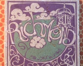 Marble trivet - Richmond GYOR Purple