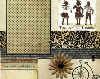 The Best of Friends - 12x12 Premade Scrapbook Page