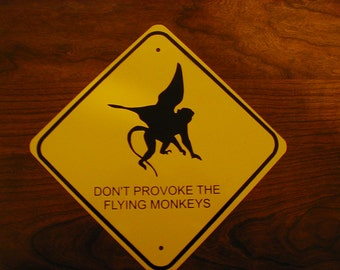 FLYING MONKEY METAL Sign