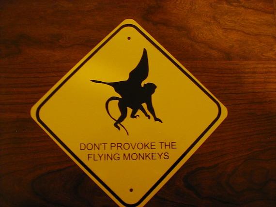 FLYING MONKEY METAL Sign